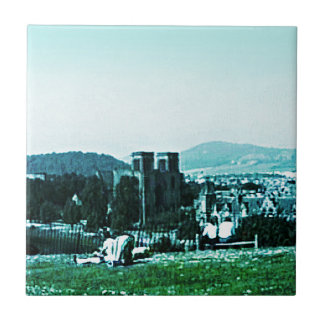 Scotland Inverness Castle Art snap-38784  jGibney Small Square Tile