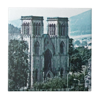 Scotland Inverness Church Art snap-38977  jGibney Small Square Tile