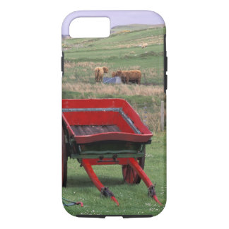 Scotland, Isle of Skye, Kilmuir. Farm animals iPhone 8/7 Case