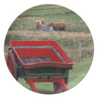 Scotland, Isle of Skye, Kilmuir. Farm animals Plate