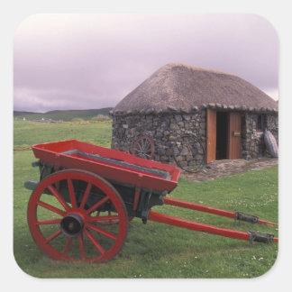 Scotland, Isle of Skye, Kilmuir. Rural landscape Square Sticker