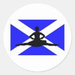 Scotland Leap Stickers