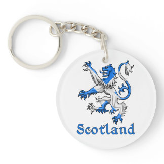 Scotland Lion Rampant Double-Sided Round Acrylic Key Ring