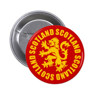 Scotland Lion Rampant Gold & Red 6 Cm Round Badge
