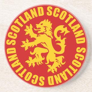 Scotland Lion Rampant Gold & Red Coaster
