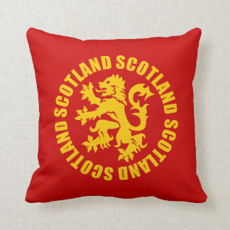 Scotland Lion Rampant Gold & Red Throw Pillow