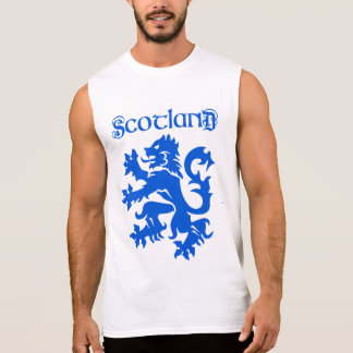 Scotland Lion Rampant Motif Sleeveless Shirt