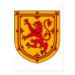 Scotland Lion Rampant Shield Postcard