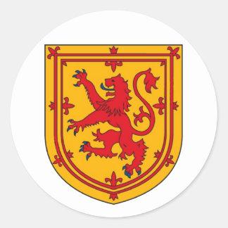 Scotland Lion Rampant Shield Round Sticker