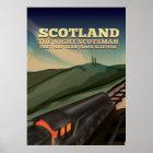 Scotland Locomotive Travel Poster