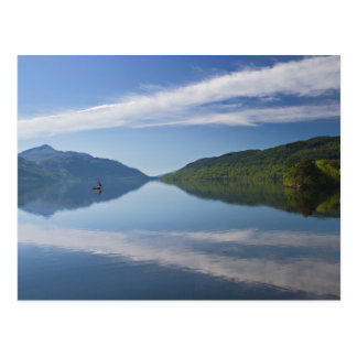 Scotland - Lonely boat on Loch Lomond postcard