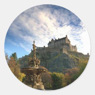 SCOTLAND: Majestic Scotland sticker. Classic Round Sticker