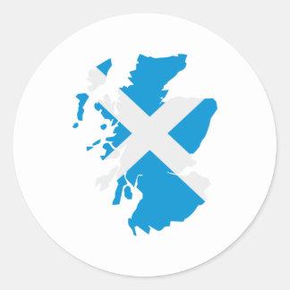 Scotland map flag stickers