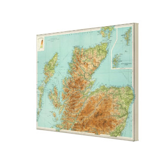 Scotland northern section canvas print