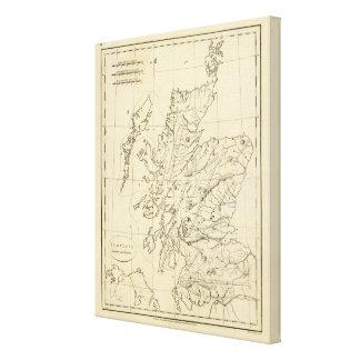 Scotland outline canvas print