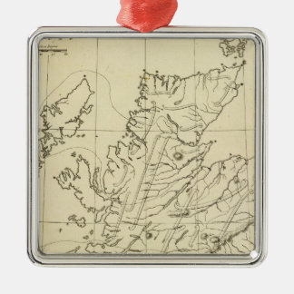 Scotland outline christmas ornament