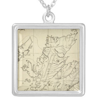 Scotland outline silver plated necklace