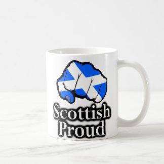 Scotland Proud Scotland Flag Fist Basic White Mug