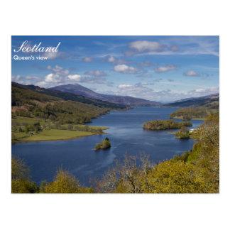 Scotland - Queen's view postcard