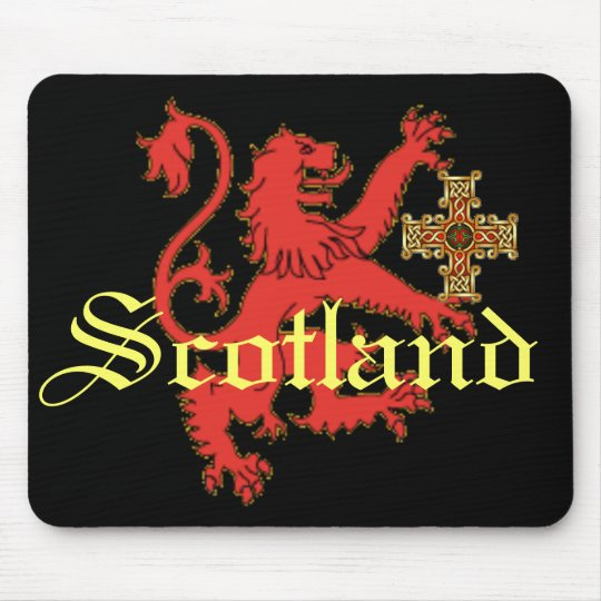 Scotland Rampant Lion  Celtic Cross Mousepad