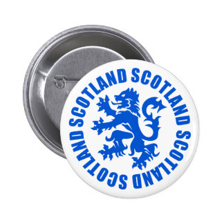 Scotland Rampant Lion Emblem 6 Cm Round Badge