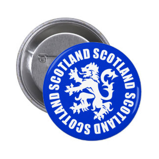 Scotland Rampant Lion Symbol 6 Cm Round Badge