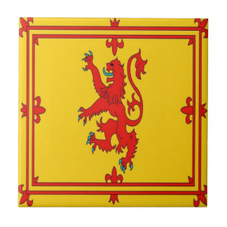 Scotland red lion rampant Flag Tile
