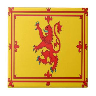 Scotland red lion rampant Flag Small Square Tile