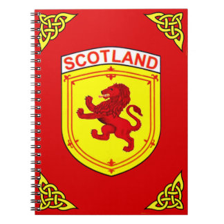 Scotland red Rampant ancient Lion flag Notebook