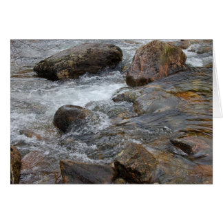 Scotland - River flowing over rocks Note Card