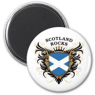 Scotland Rocks 6 Cm Round Magnet
