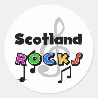 Scotland Rocks Classic Round Sticker