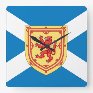 Scotland Royal Arms and Flag Square Wall Clock