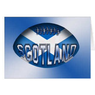 Scotland Rugby Ball Greeting Card