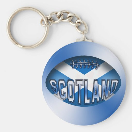 Scotland Rugby Ball Key Chains