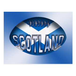 Scotland Rugby Ball Postcard