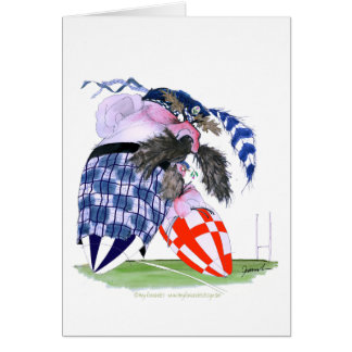 scotland rugby ball, tony fernandes greeting card