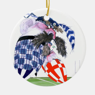 scotland rugby ball, tony fernandes round ceramic decoration