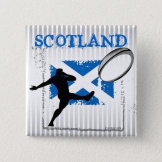 Scotland Rugby Button