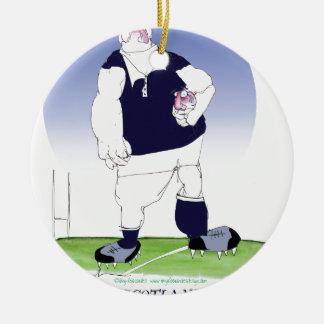 scotland rugby player, tony fernandes round ceramic decoration