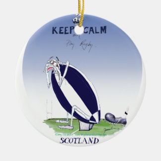 scotland rugby, tony fernandes round ceramic decoration