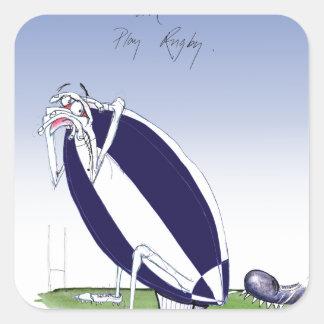 scotland rugby, tony fernandes square sticker
