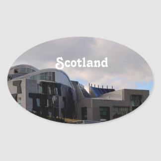 Scotland s Parliament Oval Stickers