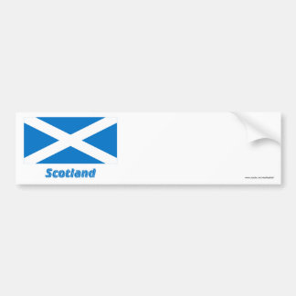 Scotland Saint Andrew Flag with Name Bumper Sticker