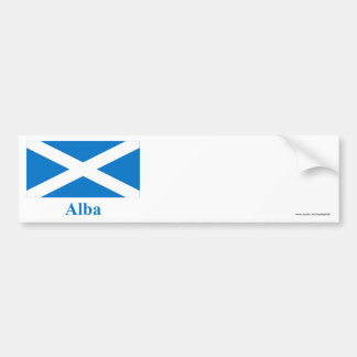 Scotland Saint Andrew Flag with Name in Gaelic Bumper Sticker