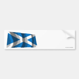 Scotland Saint Andrew Waving Flag Bumper Sticker