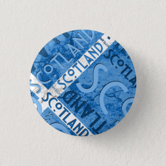 Scotland Saltire Button