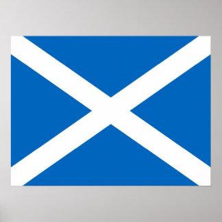 Scotland Saltire Flag Poster (exact colour)