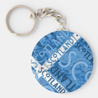 Scotland Saltire Keychain