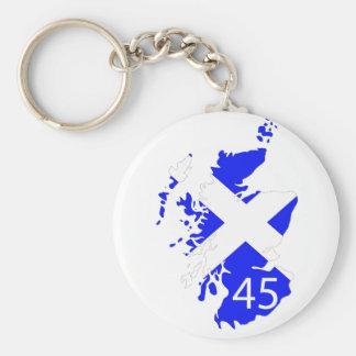 Scotland Saltire Map Basic Round Button Key Ring